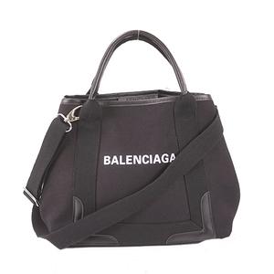 バレンシアガ ハンドバッグ キャンバス ブラック シルバー