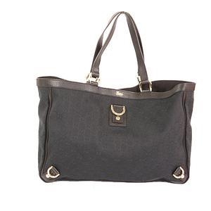 Auth Gucci GG Canvas Tote Bag 141472  Black