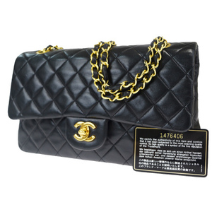 Chanel Matelasse Chain Leather Shoulder Bag Black