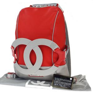 Chanel Sport Nylon,Rubber Backpack Red