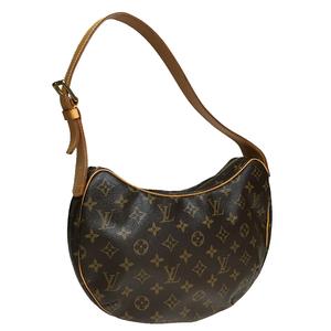 Auth Louis Vuitton Monogram M51512 Croissant MM Shoulder Bag