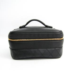 Chanel A01618 Leather Vanity Bag Black