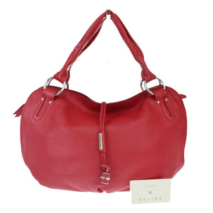Celine Bittersweet Leather Shoulder Bag Red