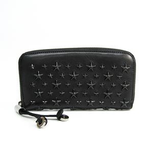 Jimmy Choo FILIPA J000079283001 Women's  Calfskin Studded Long Wallet (bi-fold) Black