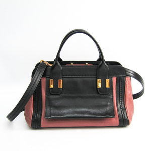 Chloé Alice 3S0157 Women's Leather Handbag Black,Dusty Pink