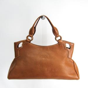 Cartier Marcello Women's Leather Handbag Brown
