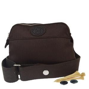 Hermes Bolide Suntur Golf Nylon,Leather Fanny Pack Brown