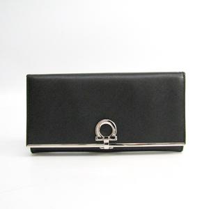 サルヴァトーレ・フェラガモ(Salvatore Ferragamo) ガンチーニ GJ-224633 レザー 長財布(二つ折り) ブラック