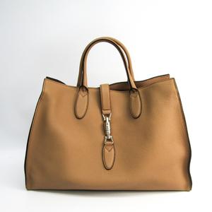 Gucci New Jackie 362970 Women's Leather Handbag Light Brown