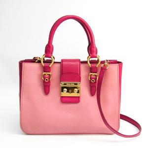 Miu Miu Madras RN0799 Women's Madras Handbag Dusty Pink,Pink