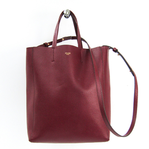 Celine Small Vertical 176183 Women's Leather Tote Bag Bordeaux