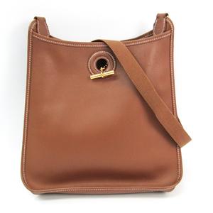 Hermes Vespa PM Women's Grain Leather Shoulder Bag Brown