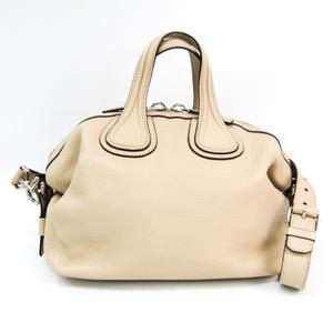 Givenchy Nightingale Small Leather Handbag Beige