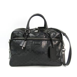 Gucci GG Imprimé 289892 Men's GG Imprimé Boston Bag Black