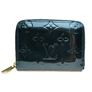 Auth Louis Vuitton Monogram Vernis M93663 Zippy Coin Purse Blue Nuit  Coin Purse/coin Case