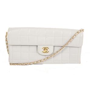 Chanel Chocolate Bar Single Chain Women's Leather Shoulder Bag Light Gray