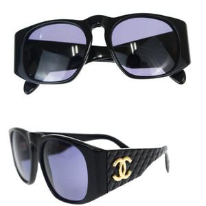 Chanel Sunglasses Black Coco Mark 01450 94305