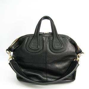 Givenchy Nightingale Medium Leather Handbag Black