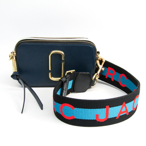 Marc Jacobs Snapshot M0014146 Unisex Leather Shoulder Bag Black,Light Gray,Navy