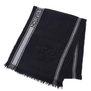 ルイ・ヴィトン(Louis Vuitton) マフラー ダミエ ウール スカーフ ブラック