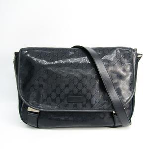 Gucci GG Imprimé 201725 Unisex GG Imprimé Shoulder Bag Navy