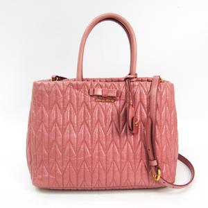 Miu Miu RN1096 Women's Leather Handbag Pink