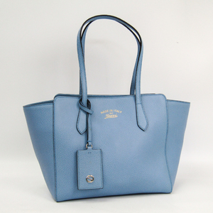 Gucci Gucci Swing 354408 Women's Leather Tote Bag Light Blue