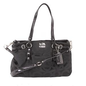 Auth Coach Op Art Handbag 17688