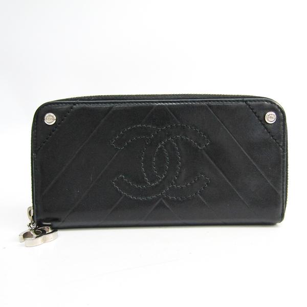 シャネル(Chanel) レディース  ラムスキン 長財布(二つ折り) ブラック