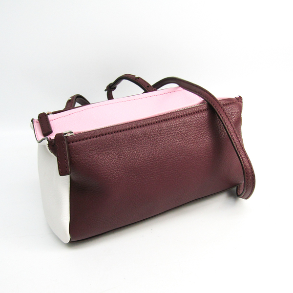 ジバンシィ(Givenchy) パンドラ ミニ レディース レザー ショルダーバッグ ボルドー,ピンク