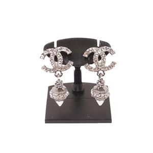 Auth Chanel  Earrings Silver