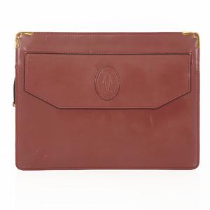 Cartier Must Clutch Bag Men's Leather Clutch Bag Bordeaux
