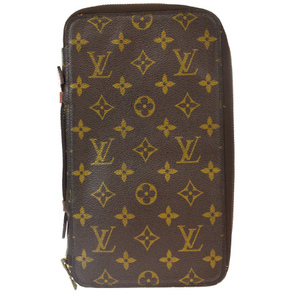 Louis Vuitton Monogram Organizer De Voyage M60119 Travel Case Round Fastener Long Wallet Monogram Wallet Monogram