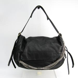 Jimmy Choo Biker Women's Leather Shoulder Bag Black