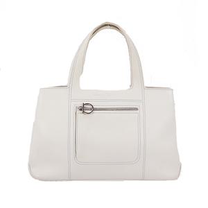 Salvatore Ferragamo Gancini Tote Bag Women's Leather Handbag,Tote Bag White