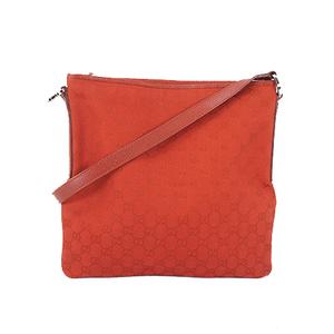 Gucci GG Canvas Shoulder Bag 113013 Women's GG Canvas Shoulder Bag Red