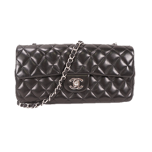 Chanel Matelasse Single Chain Women's Leather Shoulder Bag Black