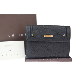 Celine Macadam Leather Wallet (tri-fold) Black