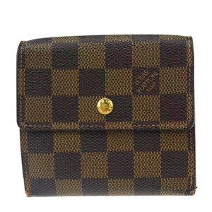 Louis Vuitton Damier Evenu Portomone Bier Cult Credit N61652 PVC,Leather Wallet (tri-fold) Damier Canvas