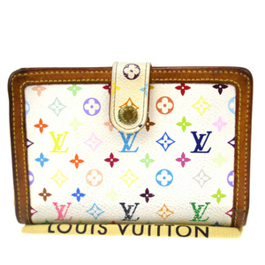 Louis Vuitton Monogram Multicolore Portemone Vie Vienois M92987 Monogram Multicolore Middle Wallet (bi-fold) Blanc
