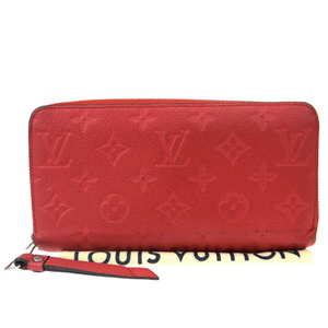 Louis Vuitton Monogram Empreinte Zippy Wallet M61865 Round Zipper Wallet Monogram Empreinte Wallet Cerise