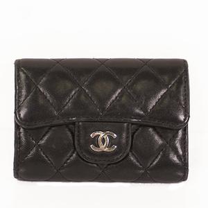 Chanel Matelasse KeyCase Women's Leather Key Case Black