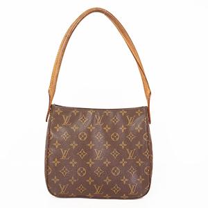 Louis Vuitton Monogram LoopingMM M51146 Women's Shoulder Bag Brown