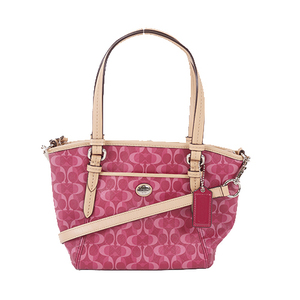 Auth Coach Signature  Handbag F26401 PVC