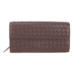 Auth Bottega Veneta Intrecciato Long Wallet