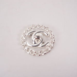 Auth Chanel Brooch Coco Mark Turnlock