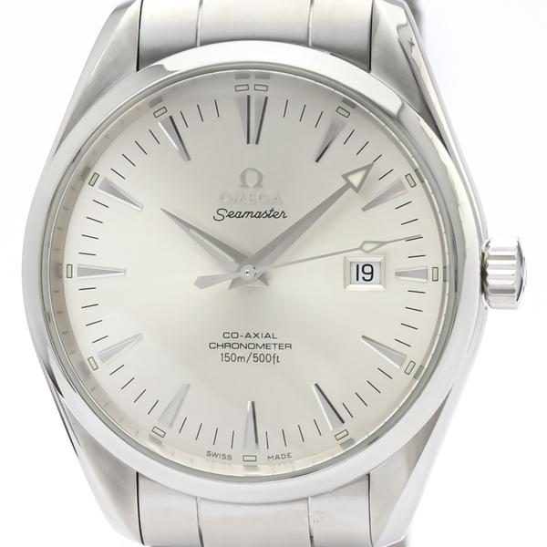 【OMEGA】オメガ シーマスター アクアテラ コーアクシャル ステンレススチール 自動巻き メンズ 時計 2502.30