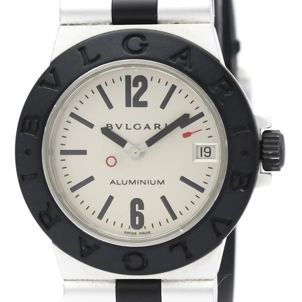 【BVLGARI】ブルガリ アルミニウム ラバー クォーツ レディース 時計 AL32A