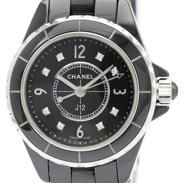 【CHANEL】シャネル J12 ダイヤモンド セラミック クォーツ レディース 時計 H2569
