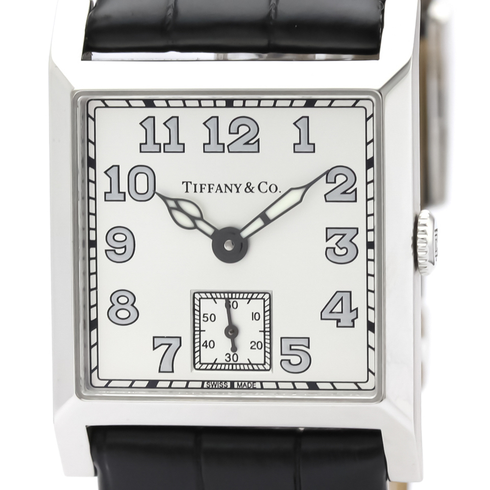Tiffany Square 2-Hand Mechanical Stainless Steel Men's Dress Watch 63182680